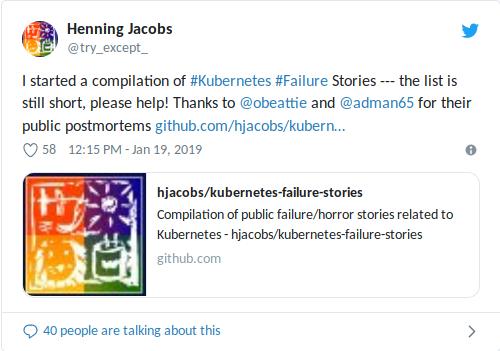 Kubernetes Failure Stories